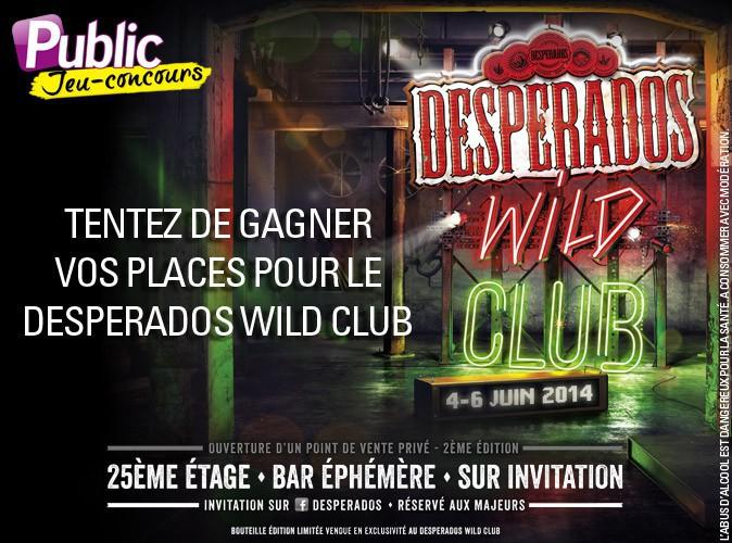 Jeu concours : gagnez votre invitation pour le Desperados Wild Club grâce à Public !