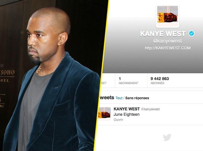 Kanye West supprime tous ses tweets et n'en garde qu'un, une mystérieuse date !