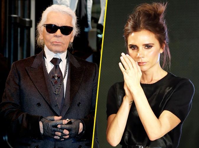 """Karl Lagerfeld : """"Même si on ne dirait pas, Victoria Beckham a un sens de l'humour !"""""""