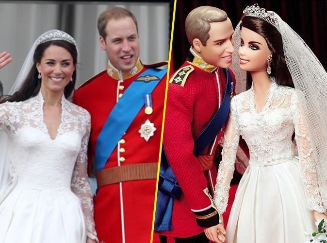 Kate Middleton et le prince William transformés en poupées Barbie pour célébrer leur un an de mariage !