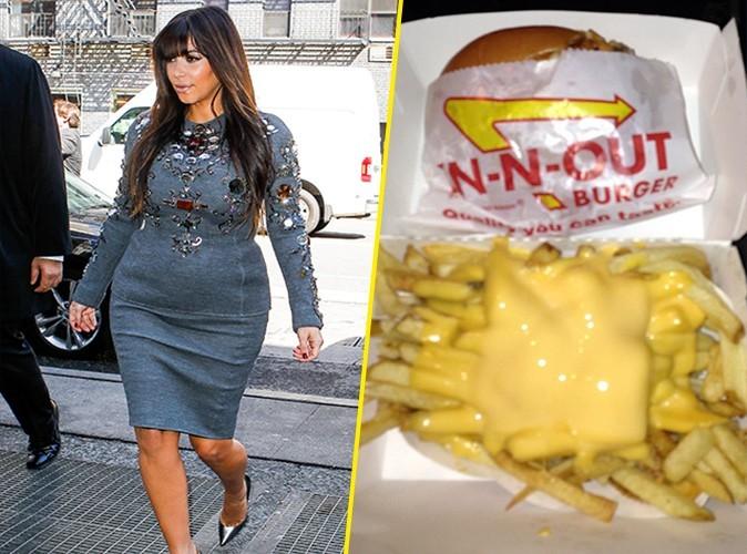 Kim Kardashian : au placard l'équilibre alimentaire, elle cède à un bon burger !