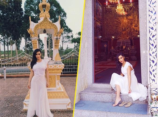Kim Kardashian : beauté immaculée pour visiter les temples bouddhistes !
