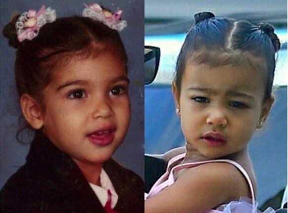 Kim Kardashian et North West : telle mère, telle fille !