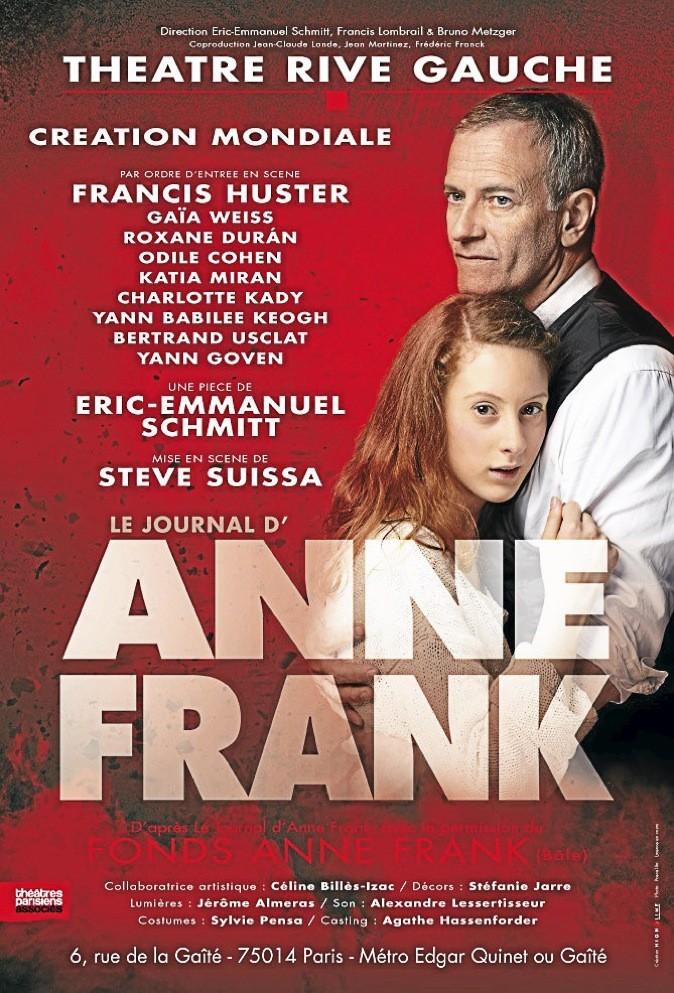 Éric-Emmanuel Schmitt met en scène Le journal d'Anne Franck avec Francis Huster !