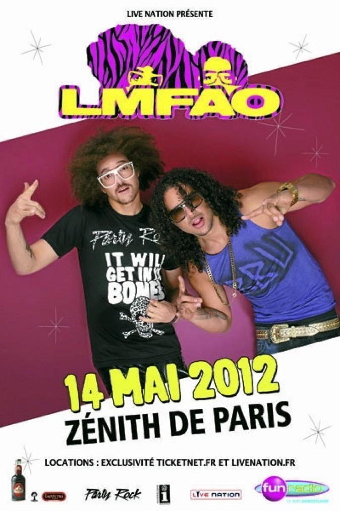 LMFAO, le groupe phénomène, explose le Zénith ! Redfoo et SkyBlu, les party boys, vont vous faire bouger!! Zénith, 211, avenue Jean-Jaurès, 75019 Paris