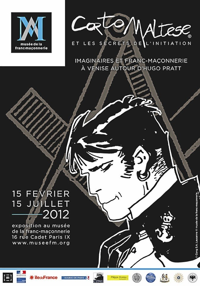 Corto Maltese et les secrets de l'initiation, au musée de la Maçonnerie, 16, rue Cadet, 75009 Paris, du mardi au samedi. Entrée : 6 €.