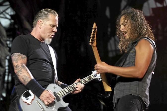 Metallica débarque au Stade de France, à Saint-Denis, pour fêter le 20e anniv' du Black Album