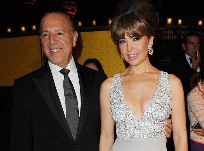 La chanteuse Thalia et son mari Tommy Mottola, l'ex-mari de Mariah Carey, ont accueilli leur second enfant !