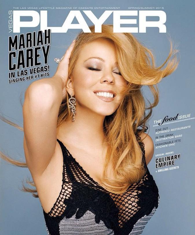 La diva Mariah Carey en une du Vegas Player : glamour et pétillante