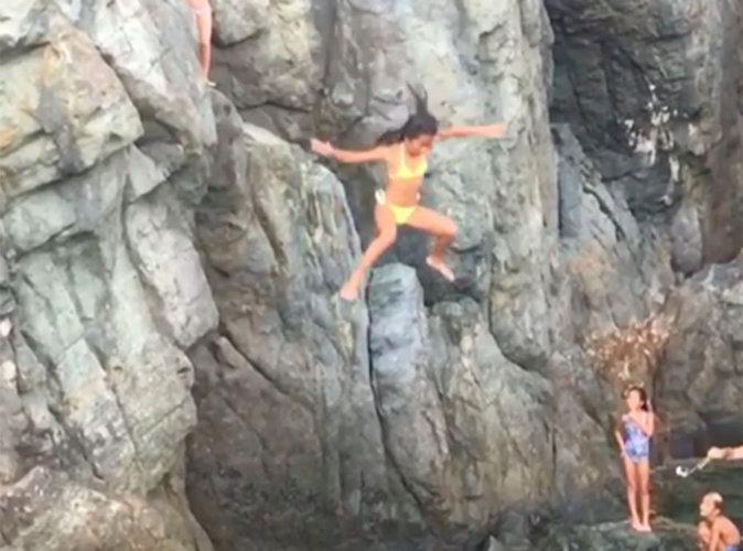Laeticia Hallyday : Sa fille Jade saute d'une falaise, les internautes s'insurgent !