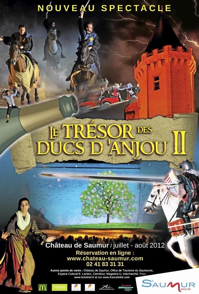 Le château de Saumur vous propose son nouveau spectacle son et lumière !