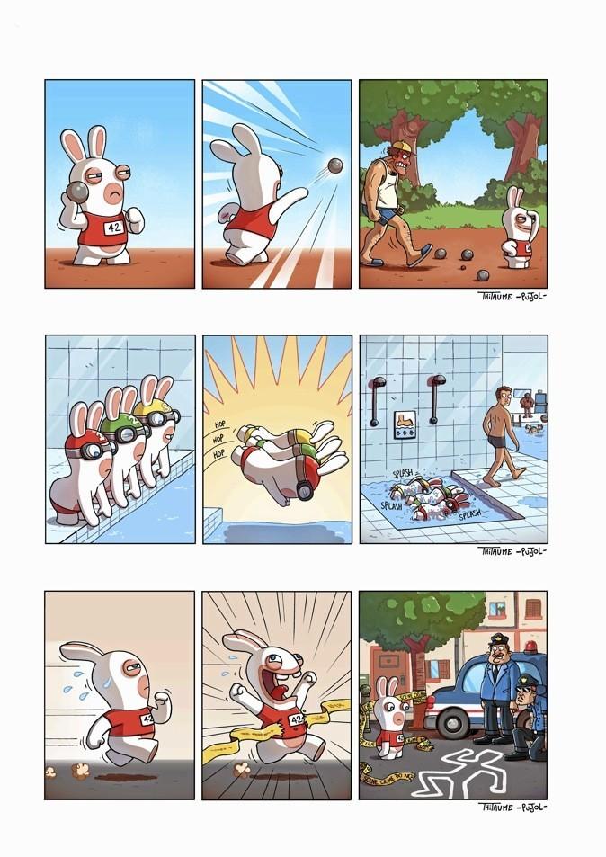 Bwaaah – The lapins crétins, par Thitaume et Pujol, éditions Les Deux Royaumes. 9,50 €.