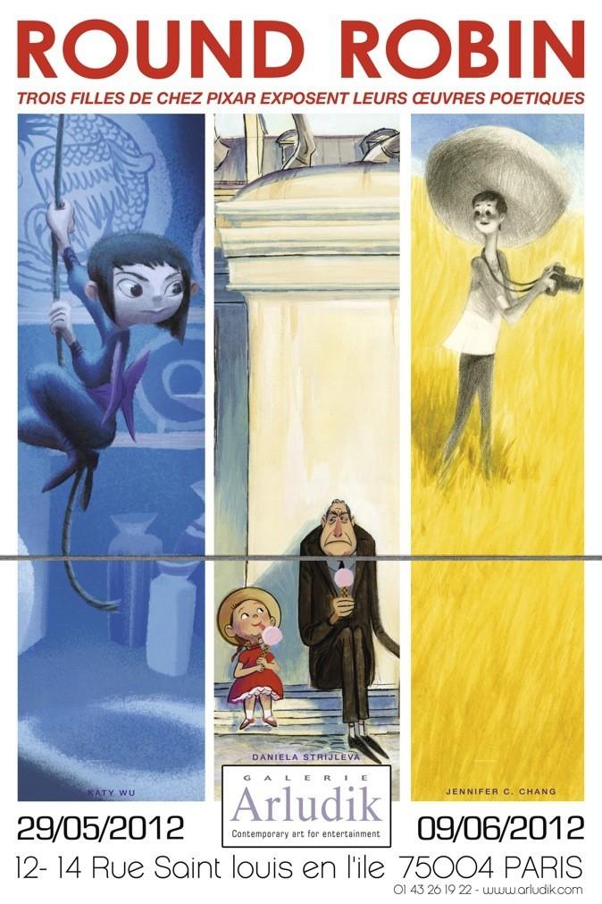 Exposition pour admirer les oeuvres des trois dessinatrices de Pixar !