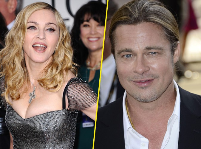 """Madonna : Brad Pitt dans son lit ? Elle dit """"Oui""""!"""