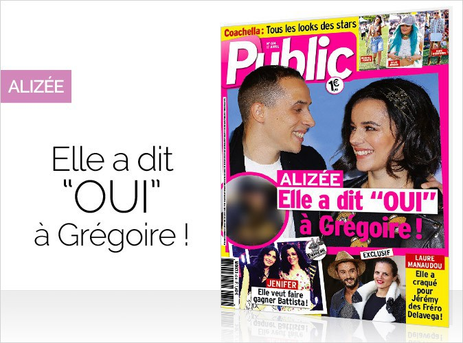 Magazine Public : Aliz�e en couverture... Elle a dit