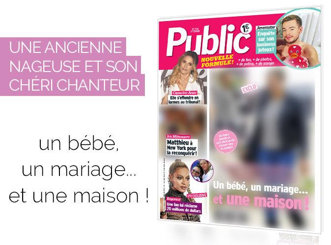 Magazine Public : Exclu : Une ancienne nageuse et son chéri chanteur : un bébé, un mariage et... une maison !