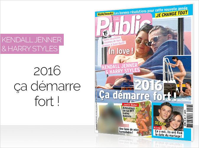Magazine Public : Harry Styles et Kendall Jenner en couverture : 2016, ça démarre fort !
