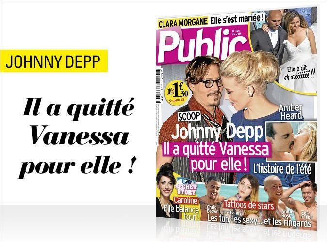 Magazine Public : Johnny Depp en couv !