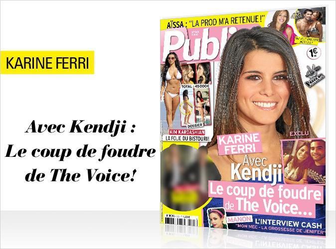 Magazine Public : Karine Ferri : son coup de foudre pour Kendji en couverture !