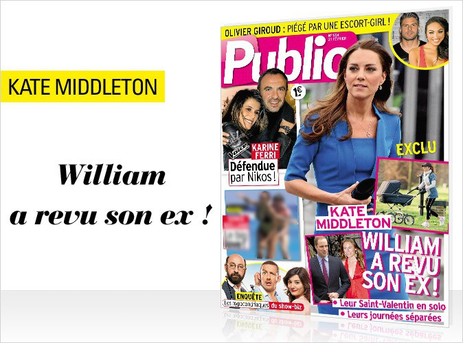 Magazine Public : Kate Middleton délaissée par William en couverture !