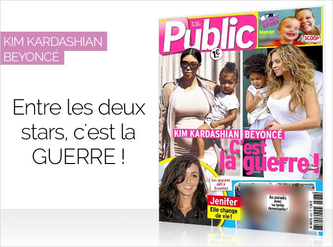 Magazine Public : Kim Kardashian et Beyoncé en couverture... C'est la guerre !