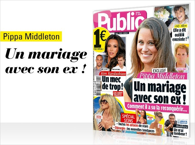 magazine public le mariage de pippa middleton avec son ex en couv. Black Bedroom Furniture Sets. Home Design Ideas
