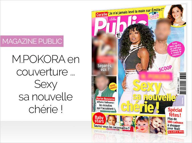 Magazine Public : Un chanteur français en couverture... Sexy sa nouvelle chérie !