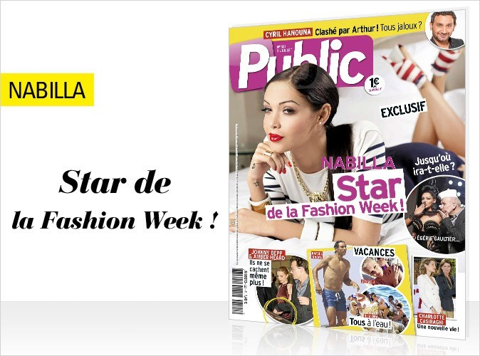 Magazine Public : Nabilla star de la Fashion Week en couv !