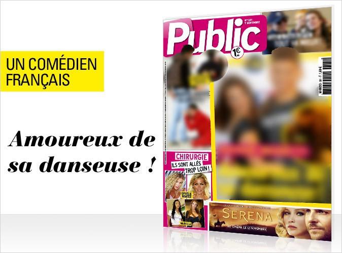 Magazine Public : Un jeune com�dien fran�ais amoureux de sa danseuse en couverture !