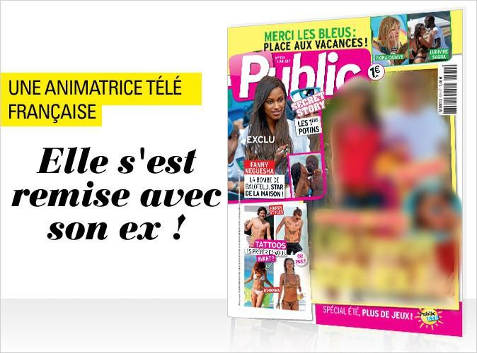 Magazine Public : Une animatrice télé française en couverture... Elle s'est remise avec son ex !