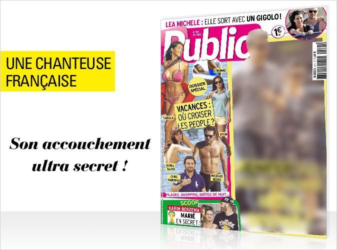 Magazine Public : Une chanteuse française : son accouchement ultra secret en couverture !