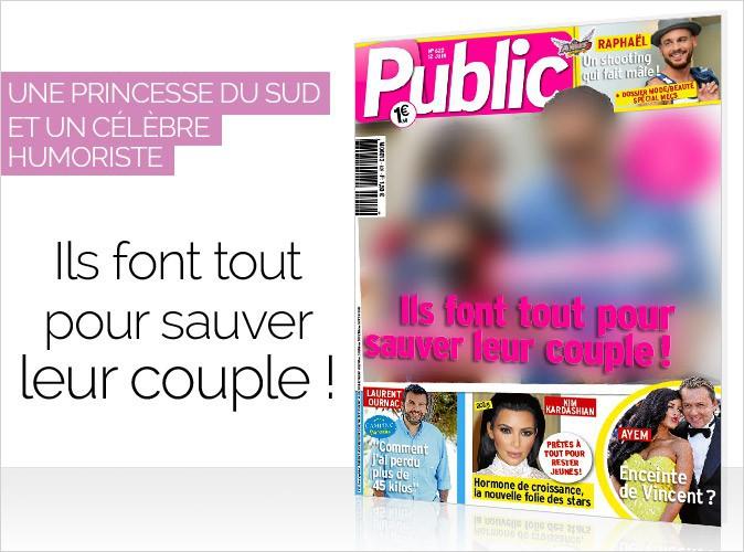 Magazine Public : une princesse du sud et un célèbre humoriste en couverture… Ils font tout pour sauver leur couple !