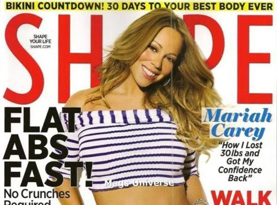 Mariah Carey : à 42 ans la chanteuse est plus sexy que jamais et nous le prouve en une de Shape Magazine !