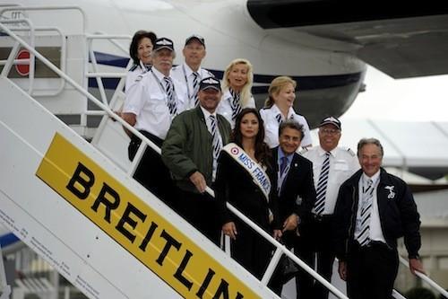 Marine Lorphelin, Miss France, Miss France 2013, salon du Bourget, Le Bourget, hôtesse de l'air