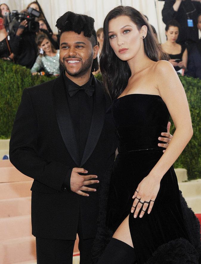 Met Gala 2016 : Bella Hadid et TheWeeknd au Metropolitan Museum of Art à New York