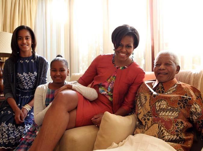 Michelle Obama en Afrique du Sud... Snobée par le président Zuma, mais accueillie comme il se doit par l'illustre Mandela !