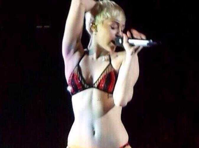 Miley Cyrus : elle a un loupé un changement de costume lors de son dernier concert !