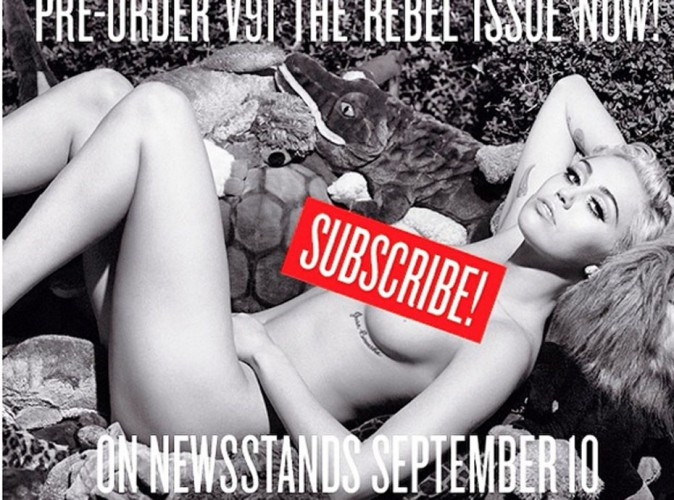 Miley Cyrus : elle se met à nu devant l'objectif de Karl Lagerfeld !