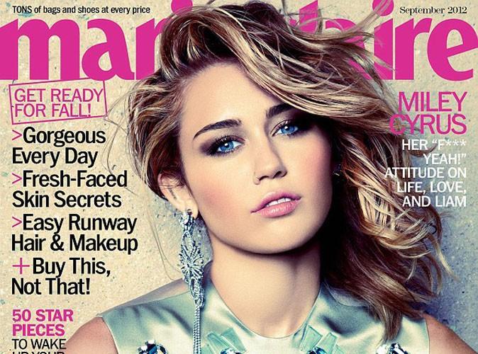 Miley Cyrus : la lolitrash s'offre la une du Marie-Claire de septembre !