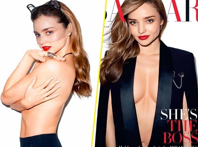 Miranda Kerr : poitrine en vue pour une nouvelle cover du Harper's Bazaar !