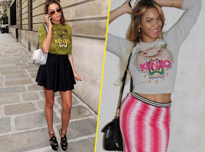 Nabilla Benattia : comme Beyoncé, fan du pull tigre Kenzo !
