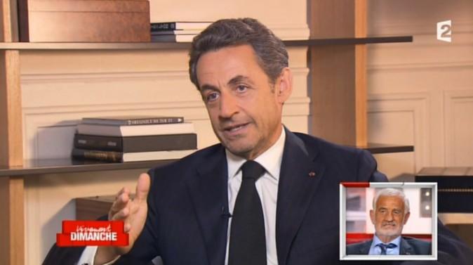 Nicolas Sarkozy a rendu hommage à Jean-Paul Belmondo dans l'émission Vivement Dimanche, le 14 avril 2013