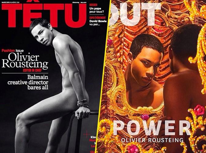 Olivier Rousteing : après avoir posé nu en Une de Têtu, il s'offre une nouvelle couv' 100% gay !