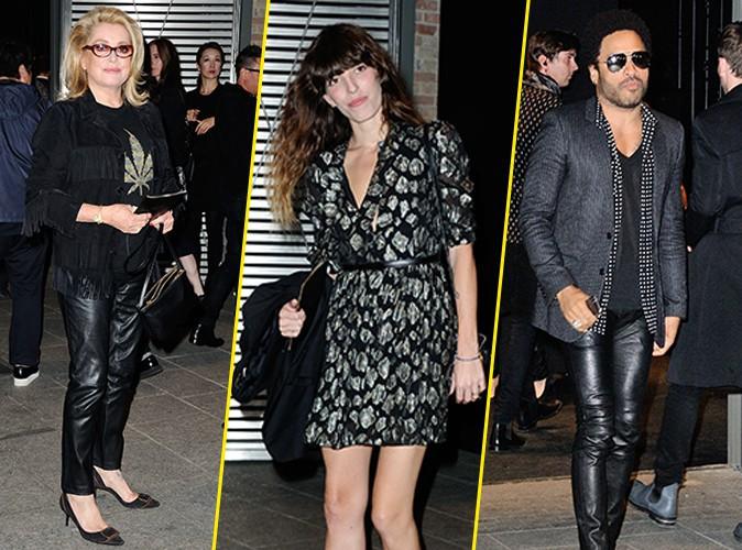 Photos : Catherine Deneuve, Lou Doillon, Lenny Kravitz… Tous présents pour admirer Cara chez Saint-Laurent !