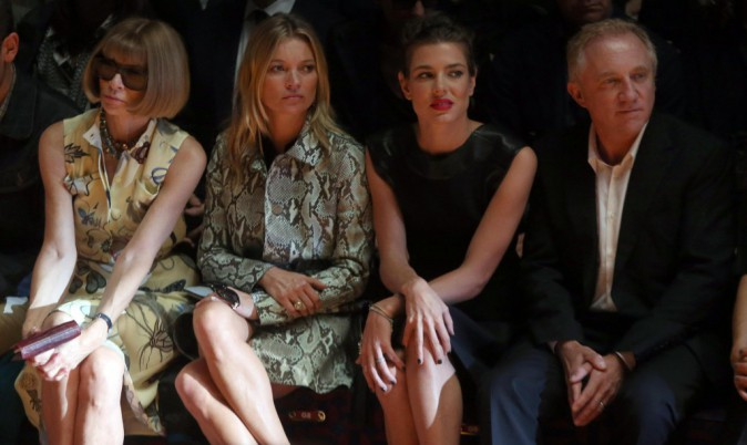 Photos : Fashion Week : Charlotte Casiraghi et Kate Moss, deux beautés rayonnantes à Milan