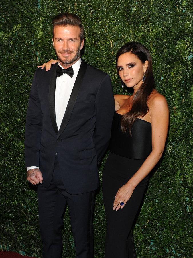 "David Beckham et sa femme Victoria Beckham à la soirée ""Evening Standard Theatre Awards"""