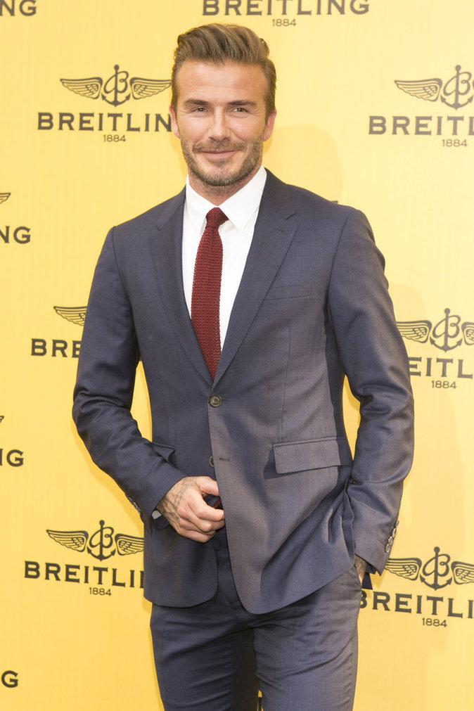 David Beckham lors de l'inauguration de la nouvelle boutique Breitling a Madrid