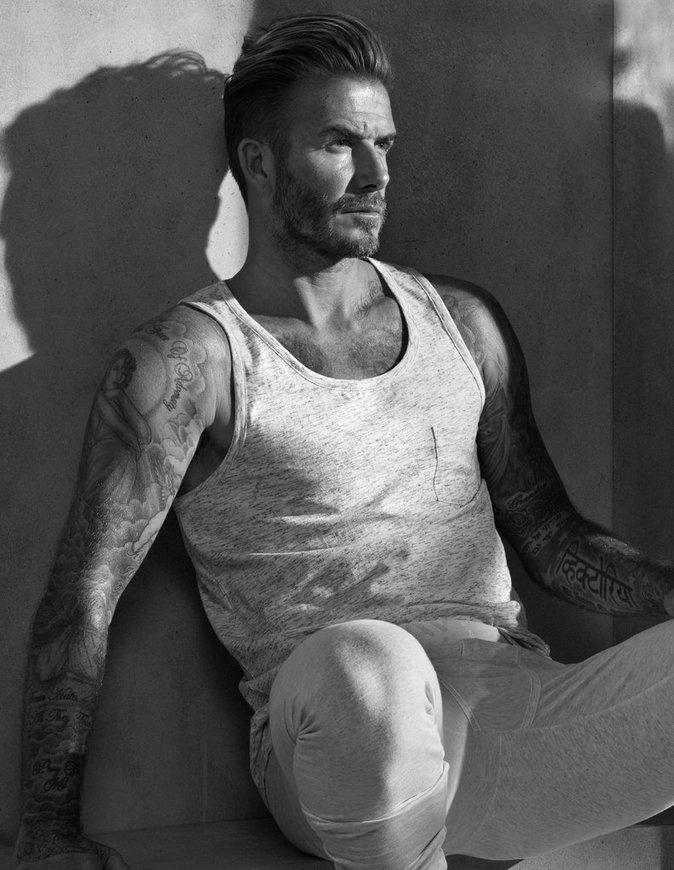 David Beckham pose pour la nouvelle campagne de H&M