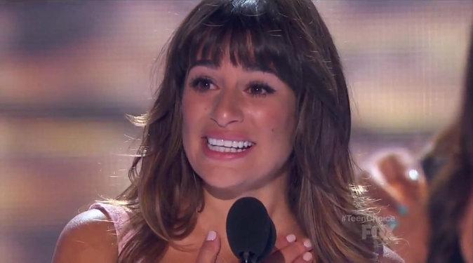Lea Michele avait fait un magnifique discours en hommage à Cory Monteith