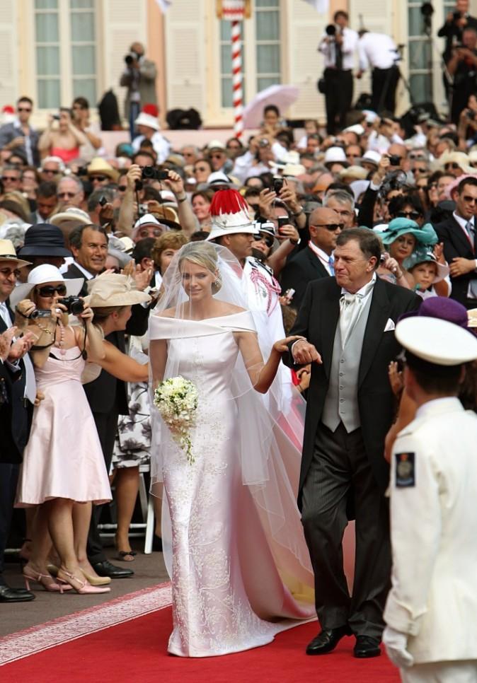 L'arrivée de la mariée Charlène